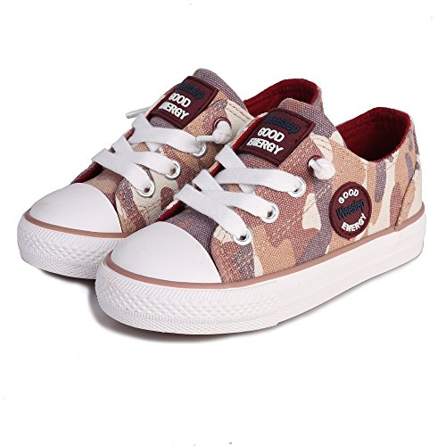Brown Camouflage Shoes - Weestep Toddler/Little Kid Boys and Girls Slip On Canvas Sneakers (13 M US Little Kid, Camouflage Brown)