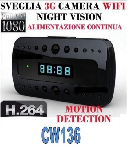 RELOJ DE ALARMA SPY SPY CAM FULL HD 1080P WIFI 3G CÁMARA ...