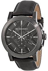 Burberry Black Dial Stainless Steel Leather Chrono Quartz Men's Watch BU9364