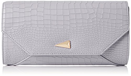Clutch Grey Grey Womens Grey Leather SWANKYSWANS Bruni Pu Clutch Croc Bag 7Tpqaw86