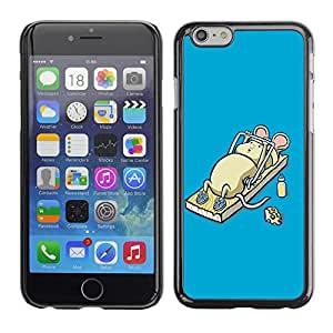 Be Good Phone Accessory // Dura Cáscara cubierta Protectora Caso Carcasa Funda de Protección para Apple Iphone 6 // Funny Cute Mouse Mice Workout