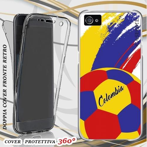 CUSTODIA COVER CASE COPPA AMERICA PALLONE COLOMBIA PER IPHONE 5 FRONT BACK