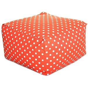 Majestic Home goods Ikat Dot otomana, grande, color naranja