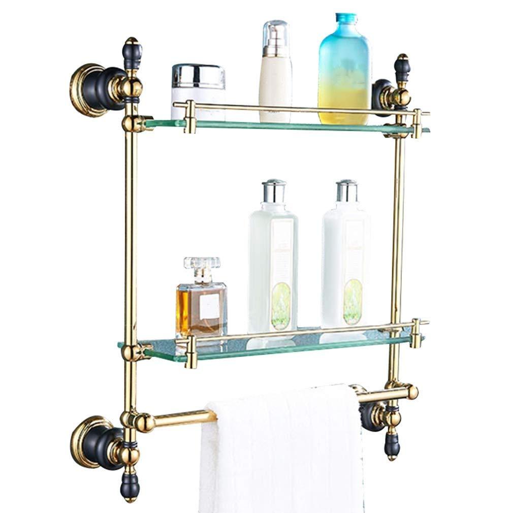 銅 強化ガラス 主催者 耐食性 防錆剤 掃除が簡単 パンチ 2色 2サイズ GAOFENG (色 : ゴールド, サイズ さいず : 43*50センチメートル) B07QZ22NCV ゴールド 43*50センチメートル