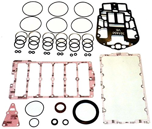 OMC / JOHNSON / EVINRUDE 150-200 HP Complete Power Head Gasket Kit V6 E-Tec WSM 500-153 OEM# 5007129 ()