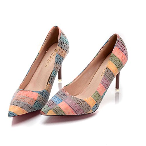 Candy Heeled High Orange Colored Shoes rYwArfx
