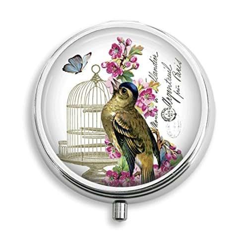 Amazon Small Decorative Boxes: Amazon.com: Free Bird Butterfly By Birdcage Pill Box Pill