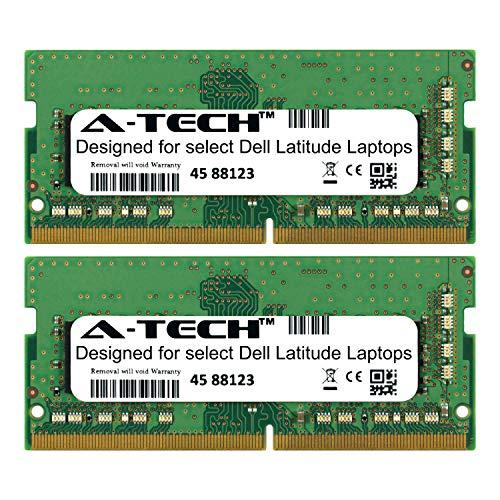 (A-Tech 16GB Kit (2 x 8GB) for Dell Latitude 5000 Series 5270 5280 5414 5470 5480 5490 5491 5495 5570 5580 5590 5591 E5270 E5280 E5470 E5480 E5490 E5491 E5570 E5580 E5590 2666Mhz DDR4 Laptop Memory Ram)