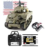 Novahobby Imported 1/16 RC Remote Control 2.4G Henglong Smoke & Sound US M4A3 Sherman Tank 3898 Steel Gearbox V6.0 Airsoft BB Infrared Combat