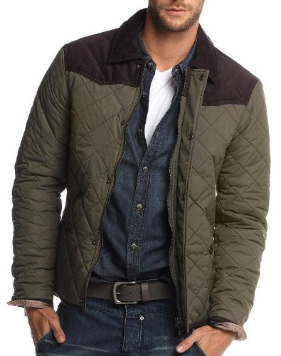 Brand New British-handmade Quilted Mens Jacket Coat (LARGE, OLIVE ... : mens quilted coats uk - Adamdwight.com