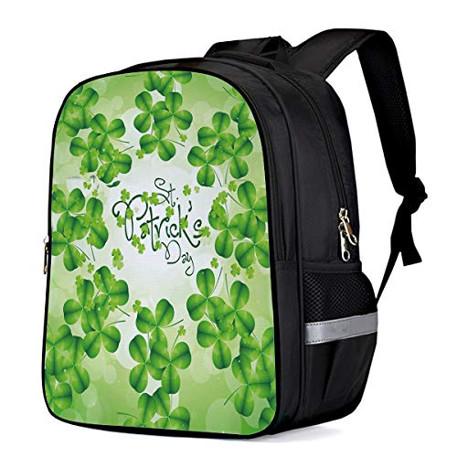 Unisex Classic Backpack Water Resistant 21L for College Student,Men,Women St. Patrick's Day Green Clovers School Bag Business/Outdoor/Travel Fits 15Inch Laptop&Notebook ()