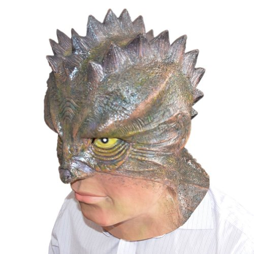 Gmask Deluxe Latex Lizard-Man Mask Costume