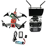 Z-Standby Mini 260 Racer Quacopter Kit Full RTF DIY FPV SP Racing F3 RC Drone 2.4G 9CH 700TVL HD Camera 5.8G Video Real Time Transmission Quad-Rotor Combo with Light and Carrying Bag