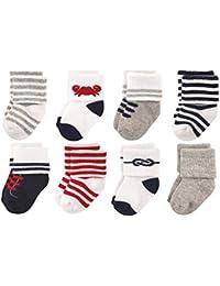 Baby Boys' Newborn Socks, 8-Pack