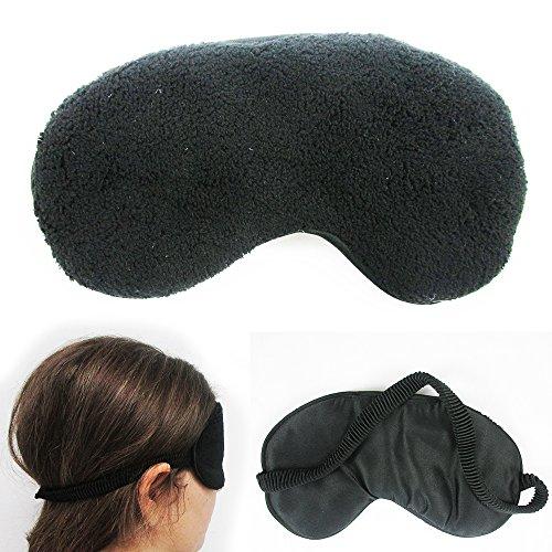 Plush Sleep Eye Mask Silk Travel Shades Blindfold Black Sleeping Cover Eyeshades