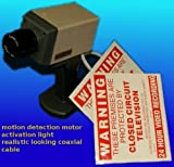 F0B- 20 X LATEST PROFESSIONAL IP31 RATED CCTV DUMMY CAMERA WITH SENSOR & FLASHING LED, MOVES ON DETECTION
