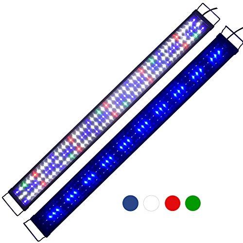 "KZKR Upgraded Aquarium Light LED Full Spectrum 72""-84"" Hood Lamp for Freshwater Marine Plant 180cm - 210cm Multi-Color Decorations Fish Tank Light"