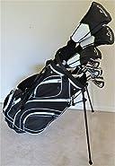 Callaway Mens Left Hand Golf Club Set Regular Flex Complete Driver, Fairway Wood, Hybrid, Irons, Putter, Stand Bag LH Lefty