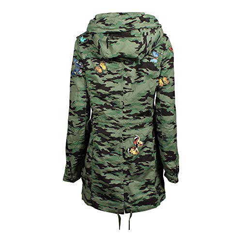 Taipa Mujer Abrigo Verde Camuflaje Khujo HqA8OTT