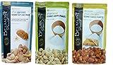 Belmont Peanuts Artisan Sea Salt, Butter Toffee, Cajun Crunch Gourmet Virginia Peanuts
