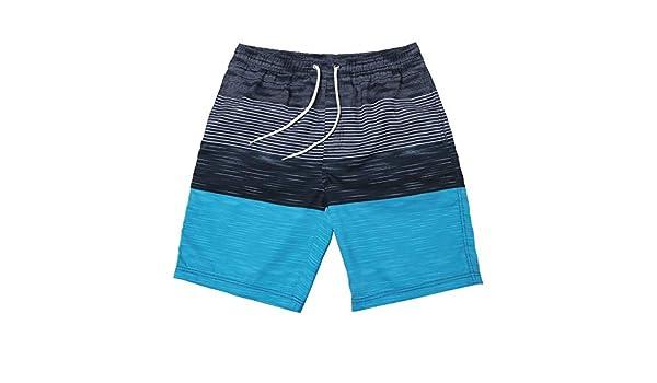 da530d7e5b Pantalones de nadar Ropa de playa para hombre Estampado de rayas Trajes de  baño Pantalones cortos a bordo de la playa Vacaciones de verano Traje de  baño ...