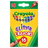 Crayola 16ct Multi-Colored Glitter Crayons