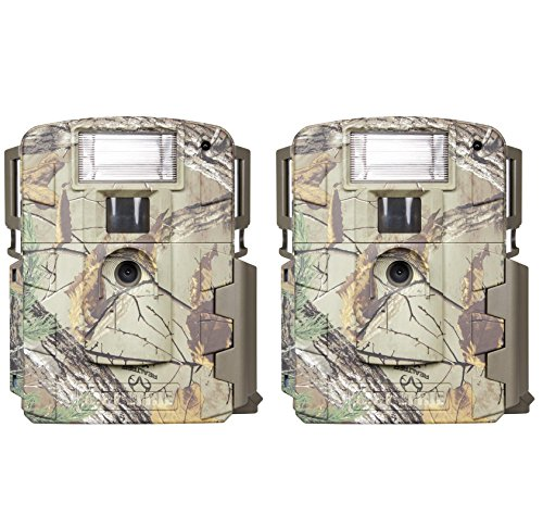 (2) Moultrie Xenon Strobe White Flash D-80 Mini 14MP Digital Trail Game Cameras