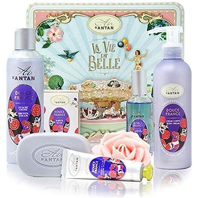 Un Air d'Antan – Beauty Box Set DOUCE Enthält 5 Produkte: 1 Duschgel 250ml, 1 Handcreme 25ml, 1 Seifen100g, 1…