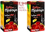 2 - Box of 96pcs Coconut Coco Mazaya Premium Lighting Hookah Hokah charcoal coals- TOTAL 192pcs