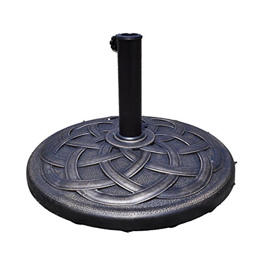 22' Round Umbrella Base Steel Cast Stone Stand Patio Plate Bronze