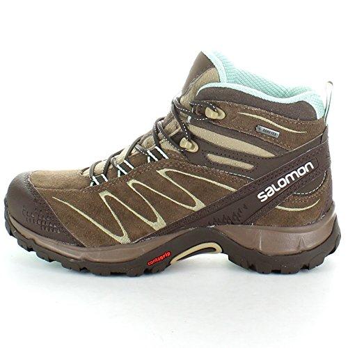 Salomon Ladies Ellipse Mid Leather GTX GoreTex Waterproof Hiking Boots Burro Brown