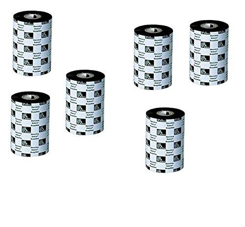 Zebra 5319 Label Wax Ribbon 2.5x1189 Feet 64MMx362M Black 6-Pack 800010002 800010-002 consumer electronics Electronics ()