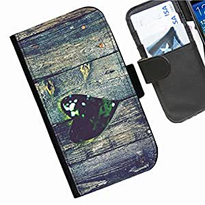 Hairyworm - Love Sony Xperia E4G (E2003, E2006, E2053) (NOT compatible with E4 model) leather side flip wallet cell phone case, cover