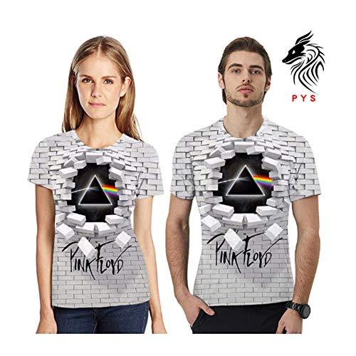 kmngd New 3D T-Shirt Fashion Men Women Music Pink Floyd Full Print Best -l60 (XL)