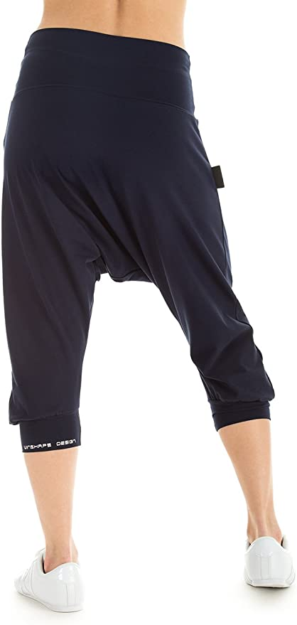 Winshape Deporte para Mujer Dance para Fitness y Uso Cotidiano Sport Pantalones de har/én Azul Azul Marino Talla:Extra-Large