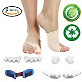 Bunion Corrector and Bunion Relief Protector Sleeves Kit, Toe Separators Spacers Straighteners Treat Pain in Hallux Valgus, Tailors Bunion, Big Toe Joint, Splint Aid Surgery Treatment, Foot Pain Relif