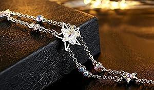 "Adorable Woman Life""lucky Star""Swarovski Elements Crystal Jewelry Women's Bracelet"