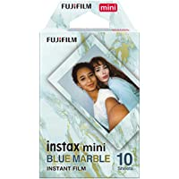 instax mini film, blå marmor Ram, 10 pack