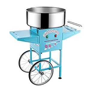 Great Northern Popcorn Company 6320 Flufftastic CC Maker Full Cotton Candy Machine/Floss Maker with Cart, Light Blue
