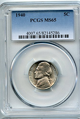 1940 Jefferson Nickel MS-65 PCGS