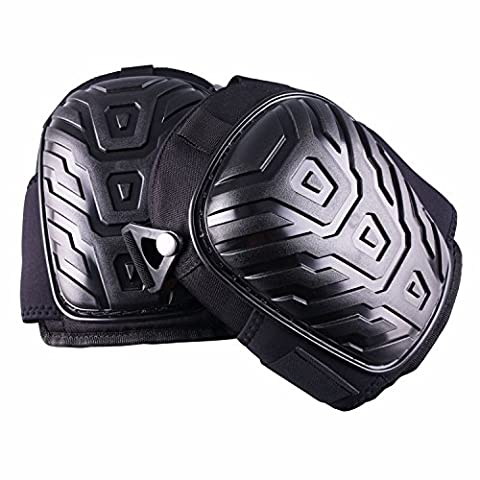 Professional Knee Pads, ADiPROD Gel Neoprene Fabric Liner Heavy Duty Foam Padding, Comfortable Gel Cushion, Strong Double Straps and Adjustable Easy-Fix - Warrior Rock Sliders