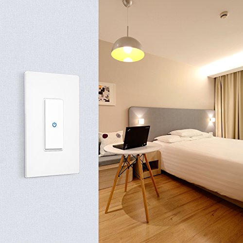 WiFi Smart Light Switch Work Alexa Echo, Smartphone Remote Control Wireless Switch from Ankuoo, No Hub Required,Timer, Automatic APP Control, for Home/Office/Living Room by Ominihome (Image #7)