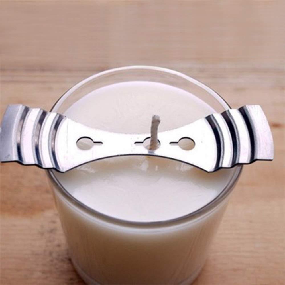 Tenedores de mecha de vela de metal Dispositivo de centrado 3 orificios de bricolaje Fabricaci/ón de velas Suministros de herramientas 5pcs