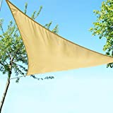 Artouch Triangle Sun Shade Sails 12' x 12' x 12' UV Block for Shelter Canopy Patio Garden Outdoor Facility Sand and Activities