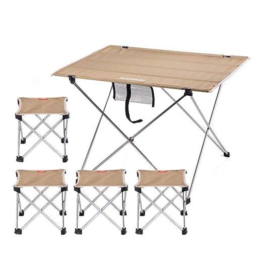 LPYMX Mesa y Silla de Camping Plegable Juego de Mesa y sillas ...