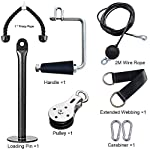 FLBTY-Pull-Down-Bar-Pulley-Cable-Machine-Attachment-Push-Down-Cable-Attachment-Fitness-LAT-e-Lift-Pulley-System-Equipment-Loading-Pin-for-Home-Workout-Gym-Triceps