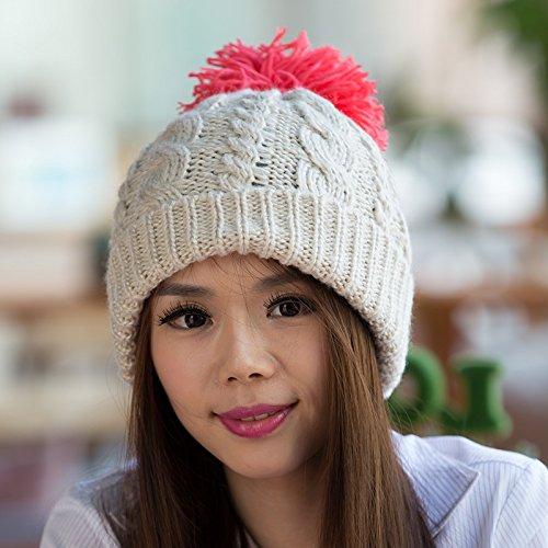 Punto para Bromista Flanger Moda a del del Damas Sombrero de de Coreana Maozi Invierno Versión Sombrero otoño WHITE Yellow Coreana Lana Punto Sombrero xz0YqcwERc