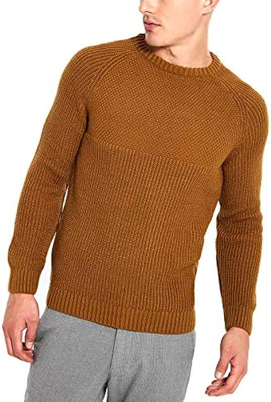LC WAIKIKI gruby męski sweter z dzianiny z okrągłym kołnierzem Slim Fit: Odzież