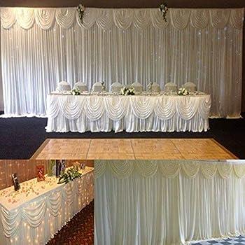Amazon Com Lb Wedding Stage Decorations Backdrop Party Drapes Ivory
