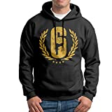 Rainbow Six Siege Logo Mens Cotton Hooded Sweatshirt Black